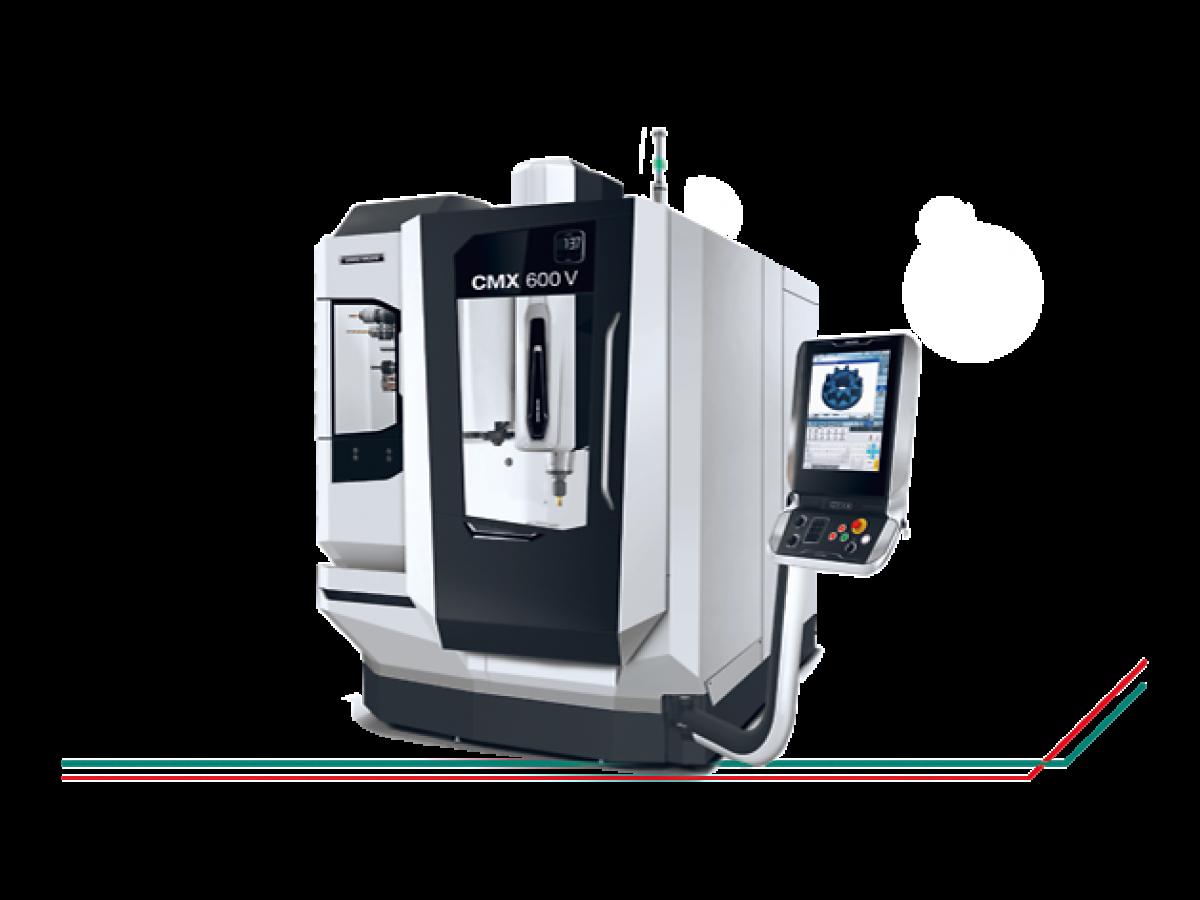 Le CMX V, orienté solution – désormais avec un système de mesure direct dans l'axe A en standard
